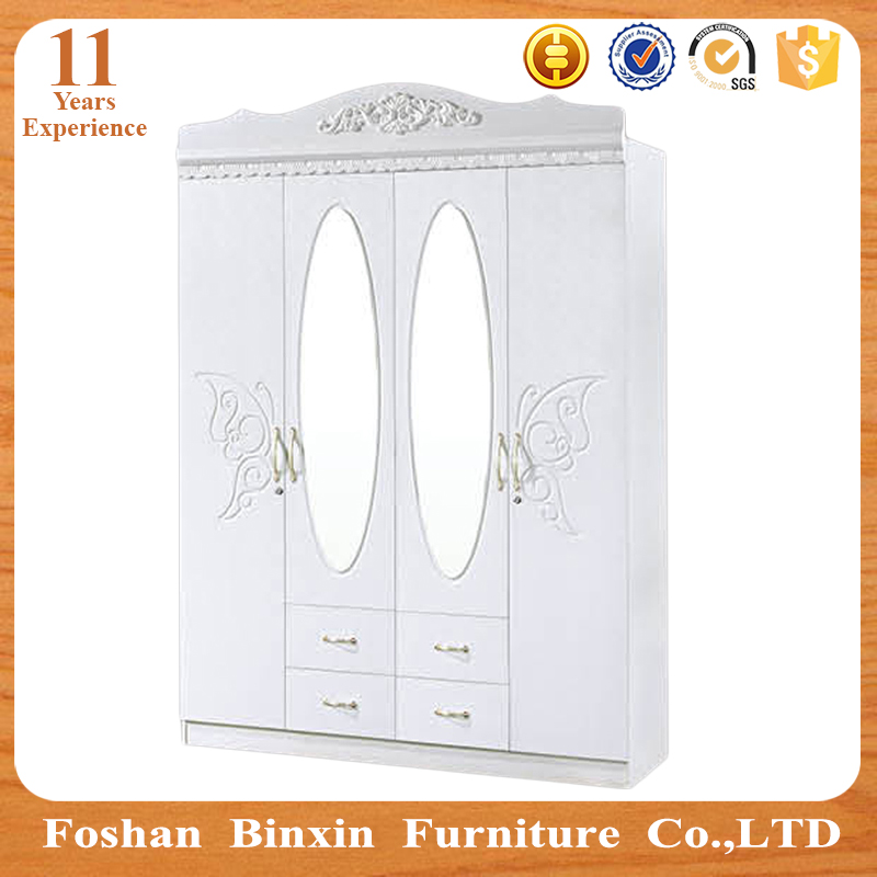 Arabia style mdf wardrobe closet RB9304 pvc 2 3 4 door godrej almirah wooden fashionable armoire home furniture