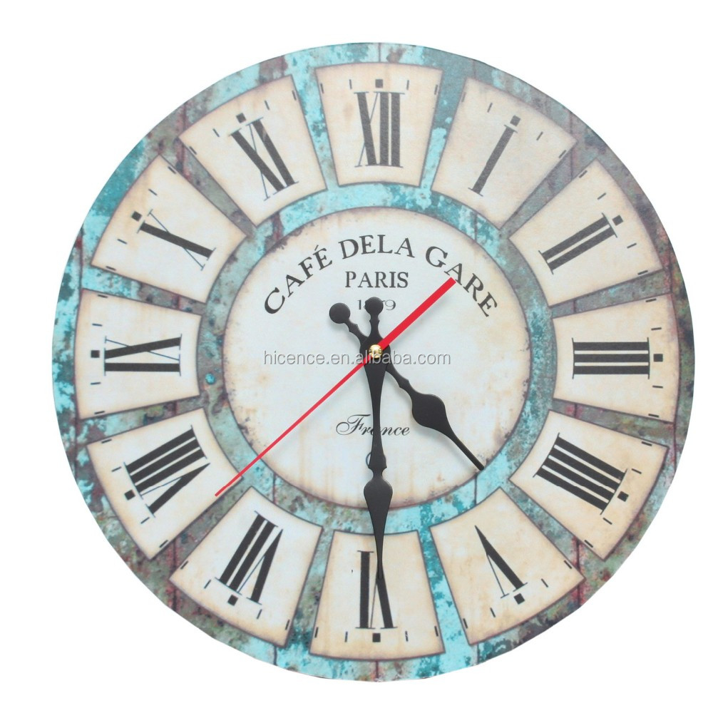 Imitative old and classic Vintage Wooden Wall Clock