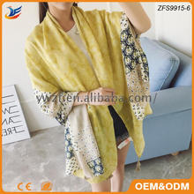 Factory Directly sale cheapest fashion yellow shawls