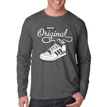 long sleeve cotton t shirt,shoes printing t shirt clothing manufacturers china