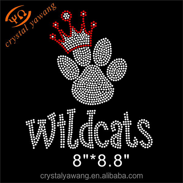 wildcats iron on rhinestone transfer design for t shirt