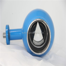 water pipeline industrial adjusted type v notch ball valve reducer