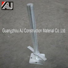 Scaffolding system metal screw jack flat for shoring