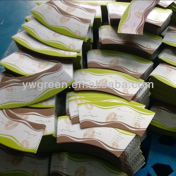 corrugated paper for ripple paper cup/brown kraft corrugated paper cup fan