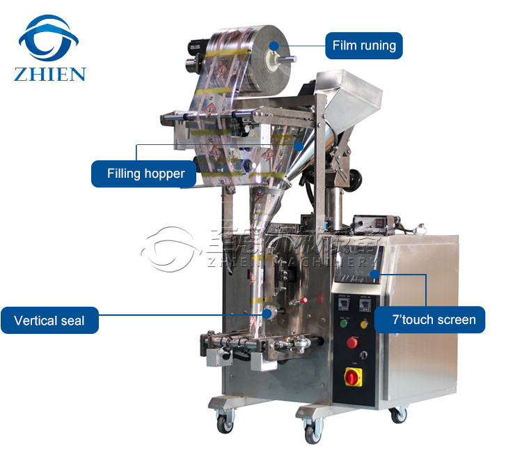 3-side Seal Milk Tea Powder Sachet Packaging Machine
