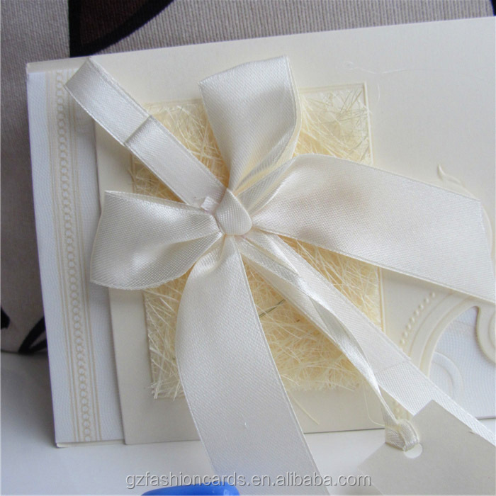 2014 Off white Modern Chinese Wedding Invitations