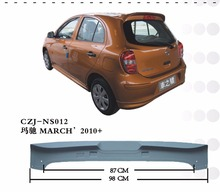 HIGH QUALITY ABS REAR CAR SPOILER FOR MARCH 2010+