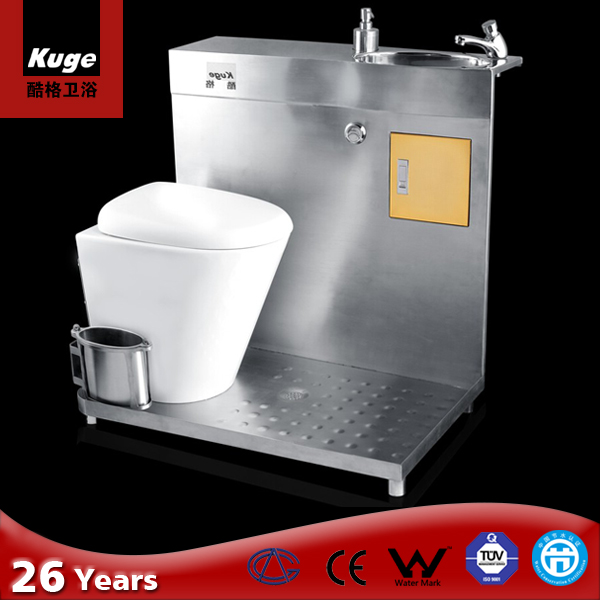 2018 Stainles Steel Chinese RV Toilet combined toilet and sink KG-SH2
