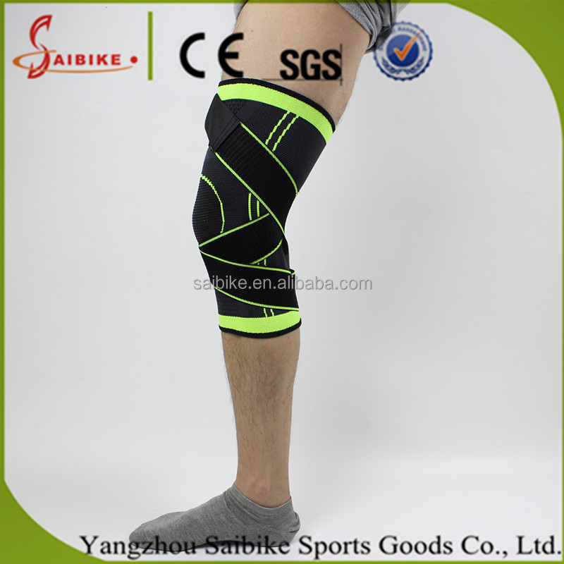 3D weaving pressurized knee brace basketball tennis hiking cycling knee support professional protective sports knee pad