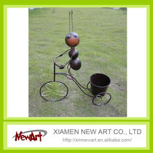 garden bike planter metal ant pot