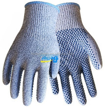 New 13G HPPE One-sides Nitrile dots Cut Resistant Gloves Cut 5