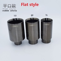 universal stainless steel exhaust tips car tail muffler51-101inlet51-outlet101 flat (welding)
