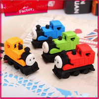 wholesale school stationery supply for kids gift train design promotional rubber pencil 3d eraser