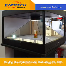 China Promotional high quality acrylic display, Hologram showcase, pyramid 3D holographic display for trade show display
