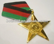 2015 new style of metal star shaped medals