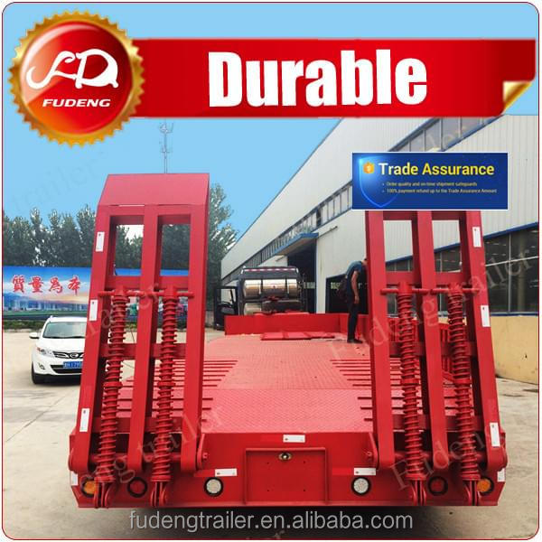 steel material 3 axle low bed semi trailer truck in malaysia