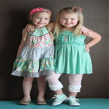 Wholesale Boutique clothing small fashion designs baby girls fancy dress