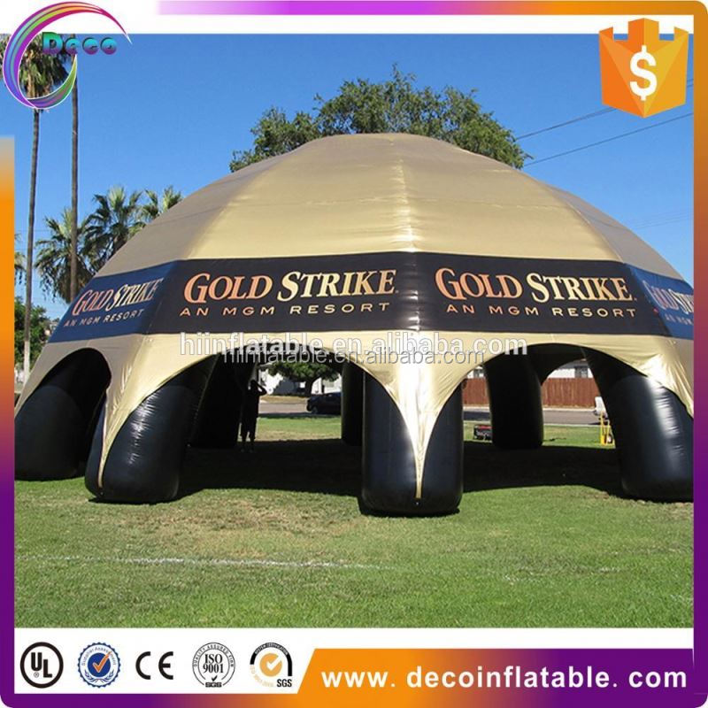 Large inflatable spider dome / inflatable bubble tent for car