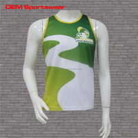 100% polyester Marathon custom sublimation running singlets