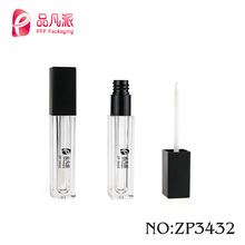 Classic high grade plastic square clear lip gloss container tube with thick glue layer