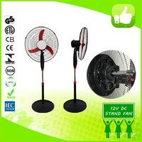"18"" Powerful cheap price energy saving industrial solar 12v dc stand fan A09"