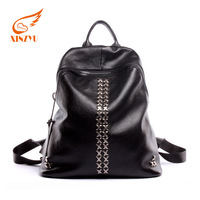 Backpack rivet decoration thailand lady leather little girl cheap handbags