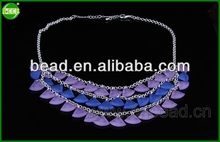 2014 fashion jewelry,leather necklace,necklace design flash necklace