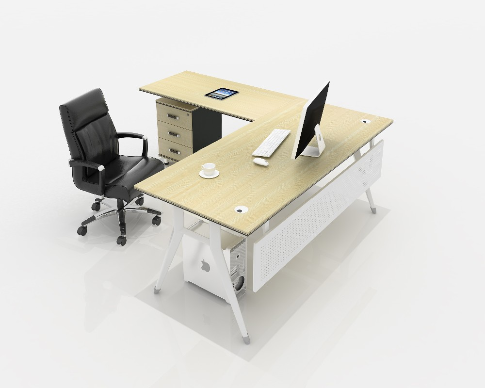 office furniture executive l shape office desk side table