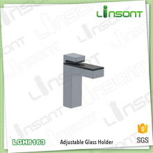 Wholesale Alibaba metal material glass table top hardware hardware accessories glass holder