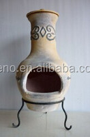 outdoor decoration clay chiminea