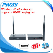 Wireless video audio transmission Wireless HDMI transmitter receiver 1080P wireless HDMI extender with loop out up to 50m/164ft