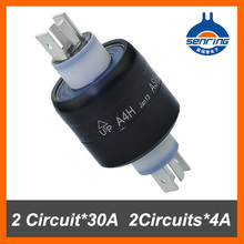 Mercury slip rings A4H 2Circuit 30A.2Circuits 4A rotating connector Armature 4 poles