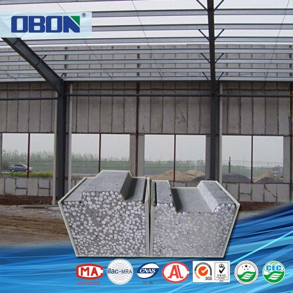OBON lightweight insulated eps cement Sandwich panel polystyrene building block