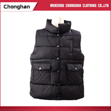 Chonghan Wholesale Plus Size Black Sleeveless Button Type Winter Waistcoat