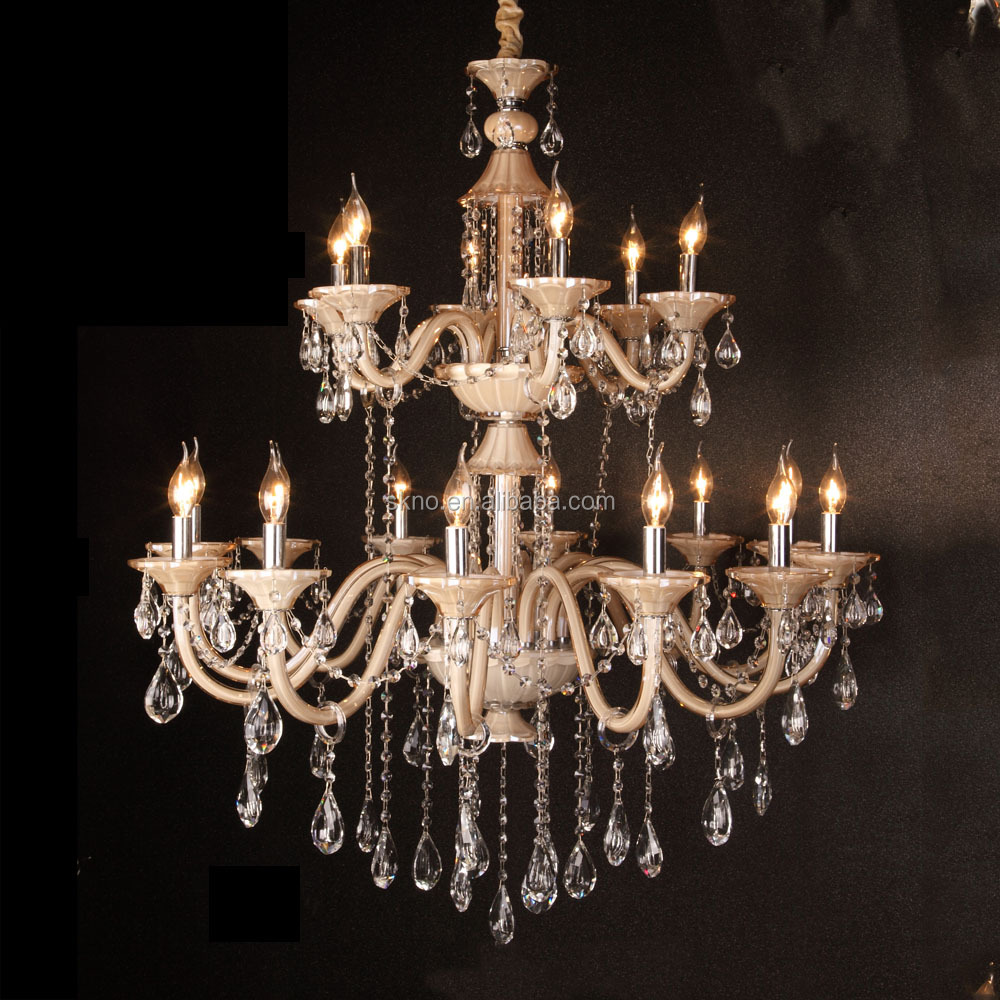 French style crystal flower bowl top chandelier crystals