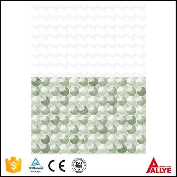 China white and green ceramic tile front bathroom wall, art interior kitchen cheap tiles