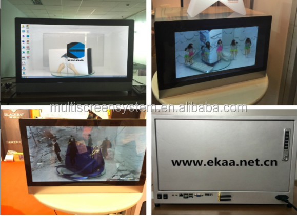 EKAA 12inch USB-plug Advertising Transparent LCD display box