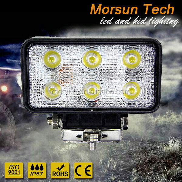 4.5 inch squar 6*3w led work light, 18w led square work lamp, 24v forklift worklight