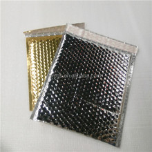 Hot gloss silver Glossy Metallic thermal bubble Padded thermal liner mailers/envelope in Customized size