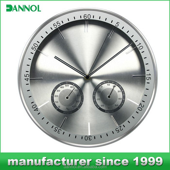 12 Inch Quartz Metal Weather Station Wall Clock golf birthday gifts for men/new products 2015 plastic