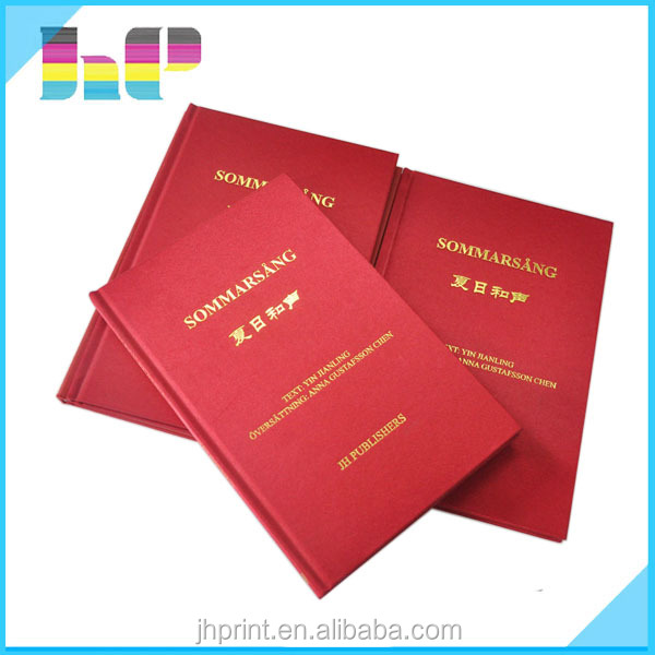 Cloth Cover Book Printing : China premium gold foil stamping cloth cover hard case