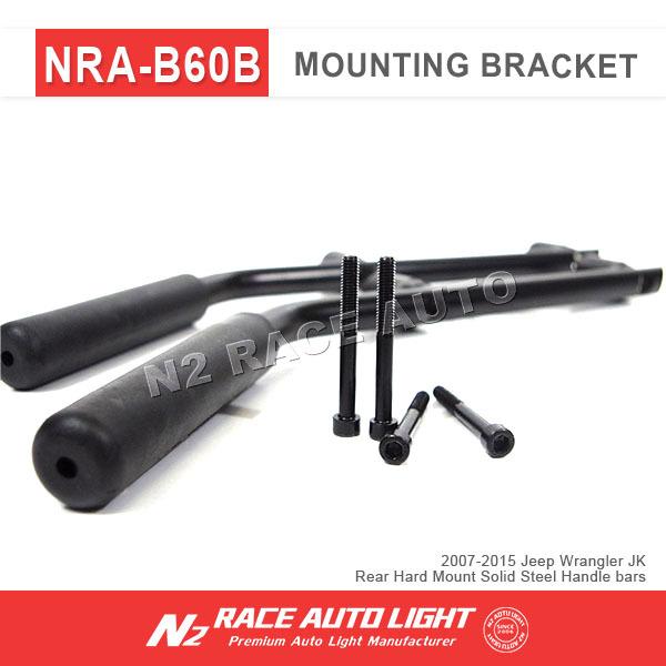 New led bar light mounting bracket, For Jeep Wrangler JK Rear Hard Mount Solid Steel Handle bars