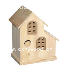 unfinished wooden birdhouses wood bird cage wholesale prices for craft painting