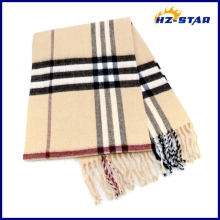 HZW-13311002 factory wholesale fashion man stripe winter hand knitting muffler
