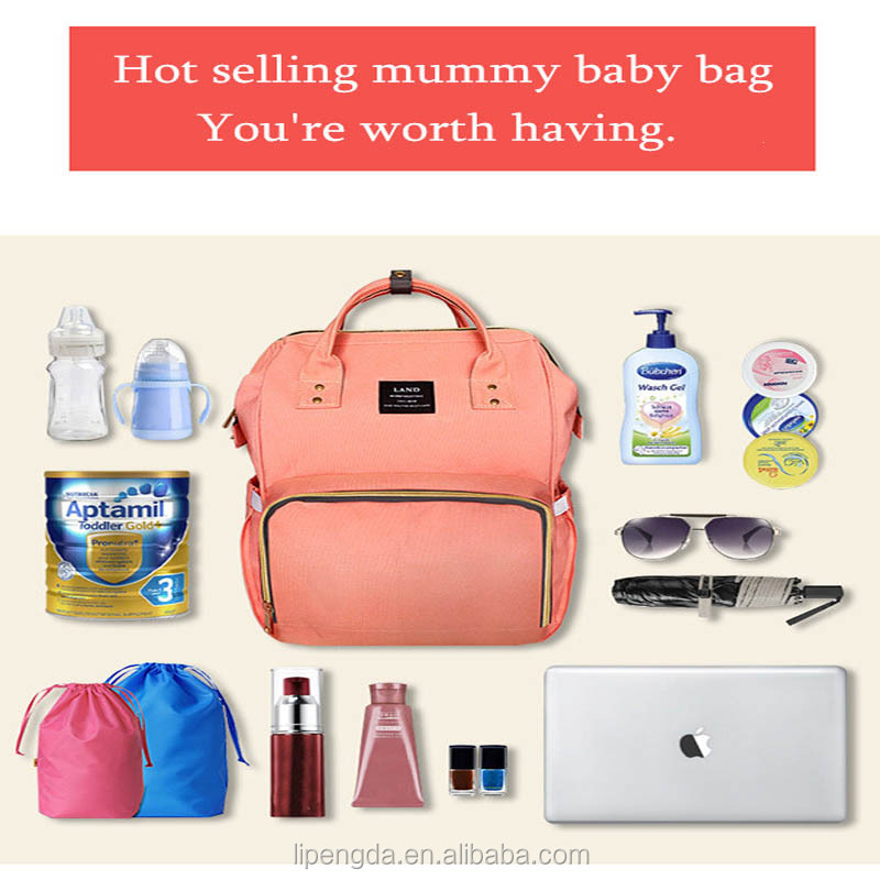 2017 Hot Selling Fashion Mummy Maternity Nappy Bag Brand Large Capacity Baby Bag Travel Backpack Designer Nursing Bag
