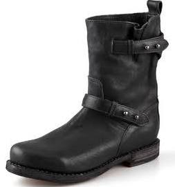 Rag & Bone Leather Moto Ankle Boots - Black