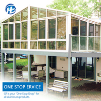 aluminum alloy sunroom prices modern glass veranda prefab glass sunroom addition