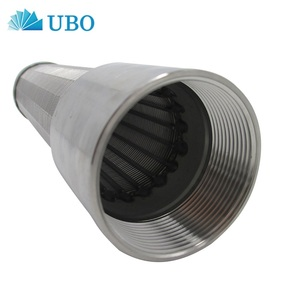 Wedge wire screen slot tube well screen filter