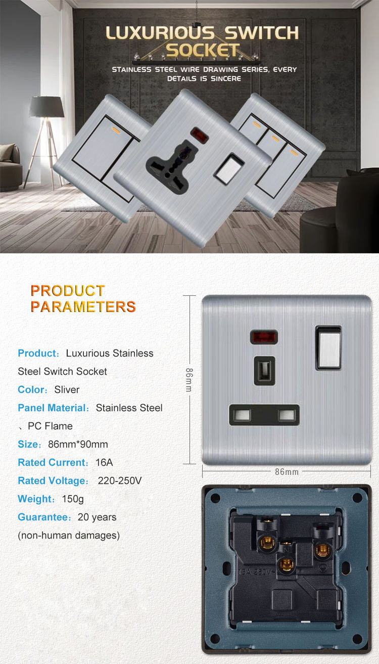 Eco-Friendly Firewall Board Doorbell Switches, Promotion Hidden Socket Hotel Used Doorbell Switch/