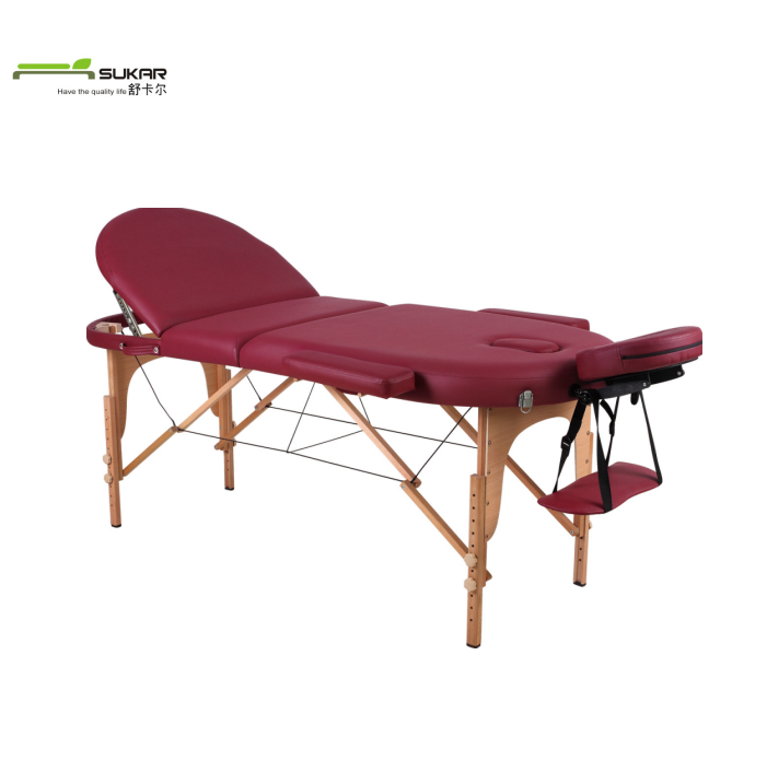 Wooden folding portable nuga best massage bed outside furniture With 6cm thickness foam and carry bag